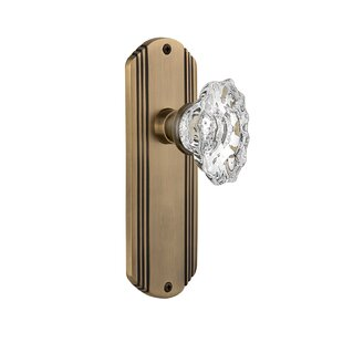 Chateau Single Dummy Door Knob with Deco Plate by Nostalgic Warehouse
