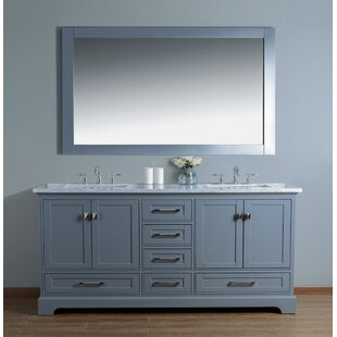 Stian 72 Double Sink Bathroom Vanity Set with Mirror By Willa Arlo Interiors