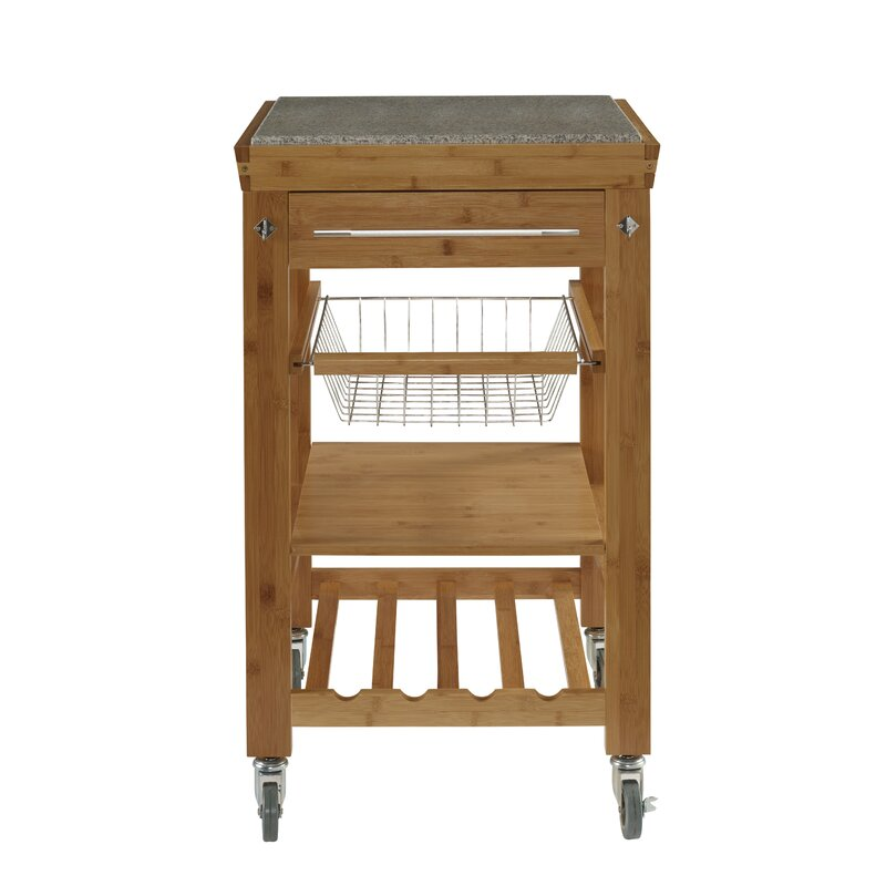 Ilana Kitchen Cart With Granite Top