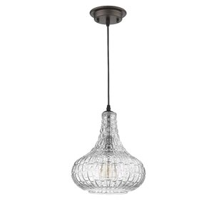 Gracie Oaks Welton Transitional 1-Light Teardrop Pendant
