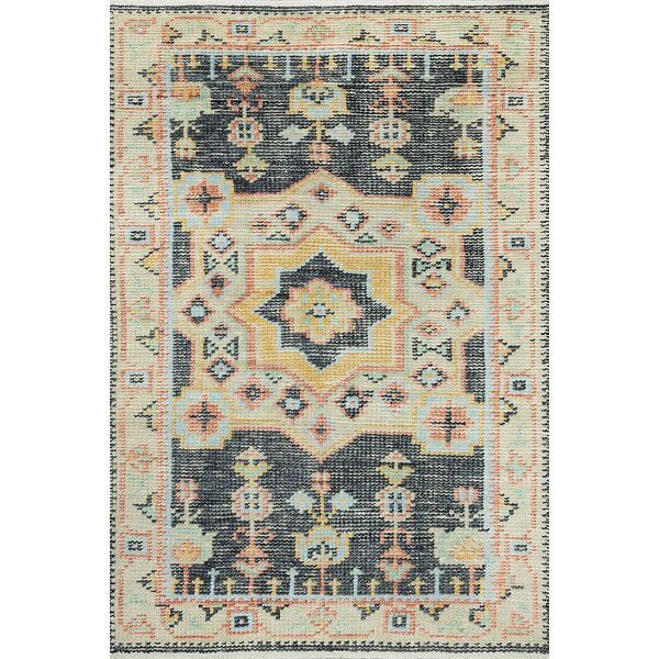 Jarvis Hand Knotted Wool Cotton Gray Gold Coral Area Rug Joss Main