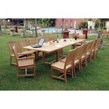 Bourg 15 Piece Teak Dining Set