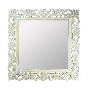 One Allium Way Brunoy Wooden Accent Mirror