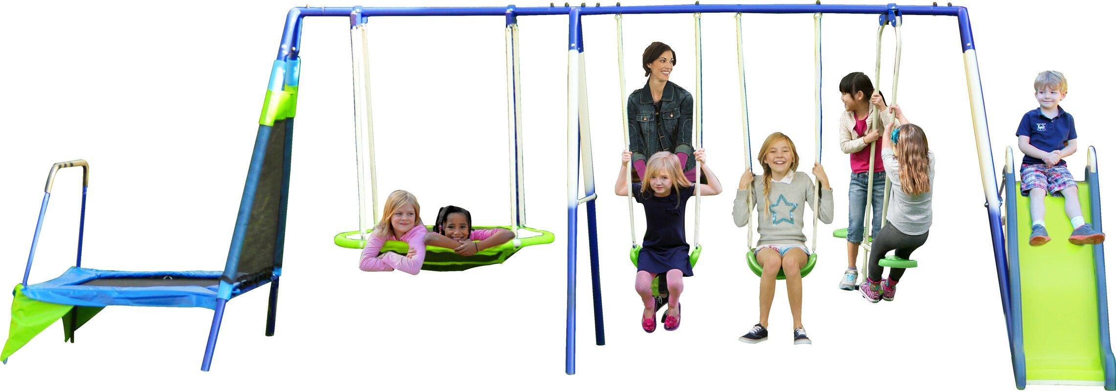metal swing sets you u0027ll love wayfair