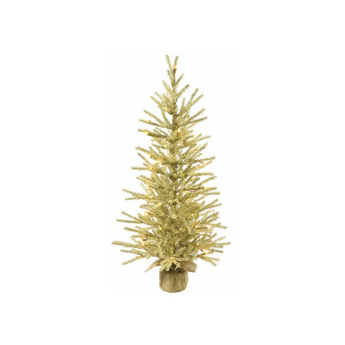Tinsel Christmas Tree.1 5 Champagne Tinsel Christmas Twig Tree With Clear Lights