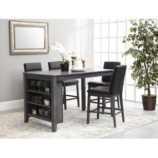 Oak Hill 5 Piece Pub Table Set by Ebern D..