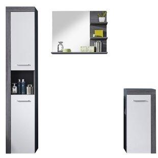 Martinson 3 Piece Bathroom Storage Furniture Set With Mirror By Mercury Row
