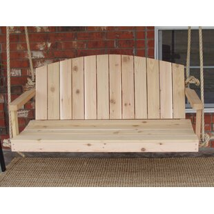 Alaina Cedar Rope Porch Swing