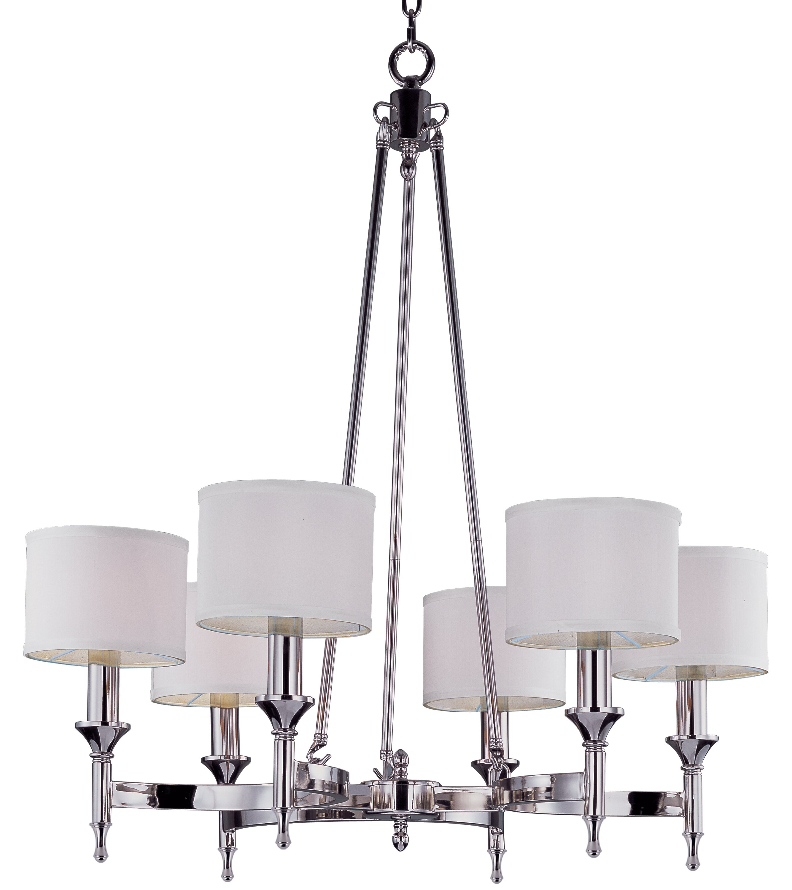 Willa Arlo Interiors Devona 6 Light Metal Drum Chandelier