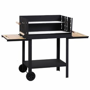 Fey 52.5cm Portable Charcoal Barbecue With Wind Shield, Side Shelves, & Rolling Wheels By Symple Stuff