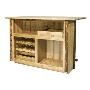Tustin Wooden Bar with Wine Storage