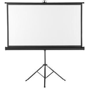 Excelvan White Portable Projection Screen