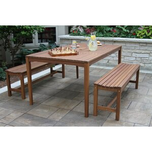 Great Mallie Bench 3 Piece Dining Set