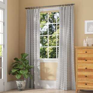 Levesque Patterned Linen Sheer 100% Polyester Single Curtain Panel by The Twillery Co.