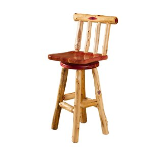 Heather Swivel Bar Stool by Millwood Pines