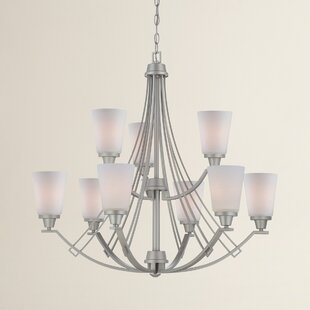 Alcott Hill Oakside 9-Light Shaded Chandelier