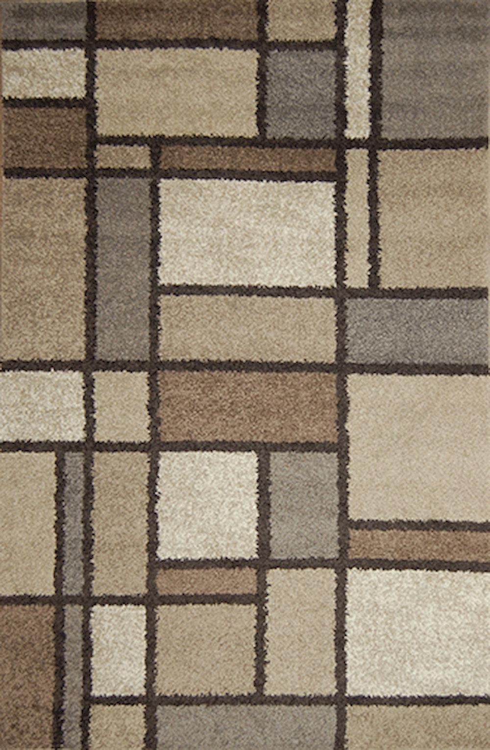 Latitude Run Vong Geometric Tufted Brown Area Rug Wayfair