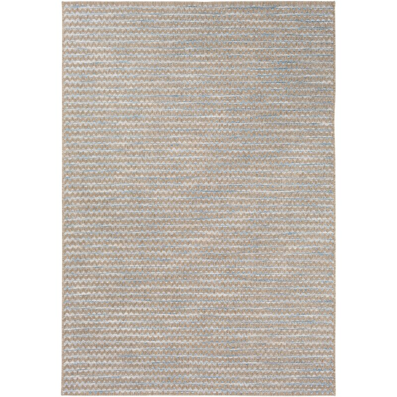 Alexandra Chevron Brown Blue Area Rug Reviews Joss Main