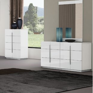 Riehle 6 Drawer Double Dresser with Mirror