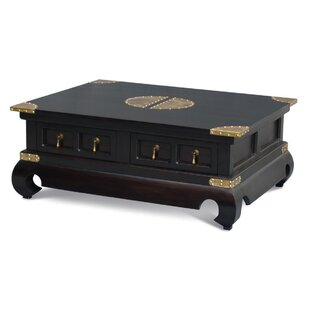 Bloomsbury Market Becky Fine Handcrafted Solid Mahogany Wood Coffee Table