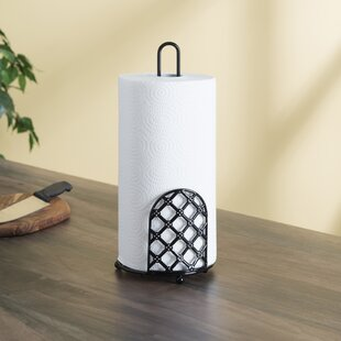 Lattice Free Standing Paper Towel Holder