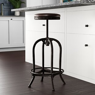 Alkaios Adjustable Height Swivel Bar Stool Mercury Row