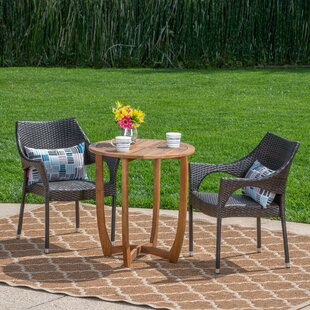 Session Outdoor 3 Piece Bistro Set by Ebe..