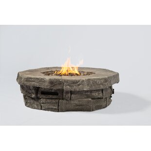 Living Source International Aurora Concrete Propane Fire Pit Table