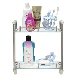 Savings Chauvin Double Glass Wall Shelf By Red Barrel Studio