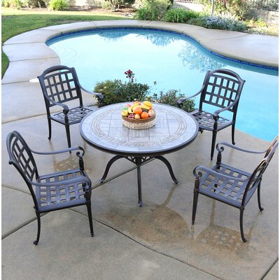 Falzone 5 Piece Dining Set by August Grove Great Reviews