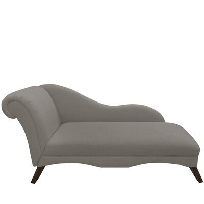 Bormann Chaise Lounge Upholstery: Linen Grey by Darby Home Co