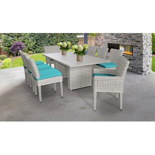 9 Piece Dining Set With Cushions by TK Classics Purchase