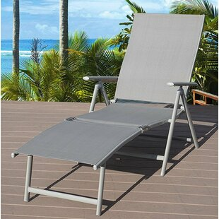 Winston Porter Otterbein Folding Reclining Adjustable Chaise Lounge