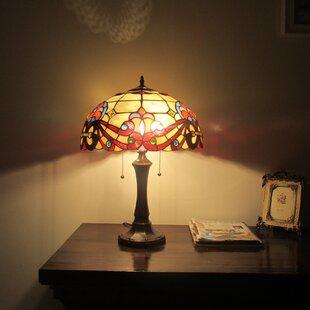 Juan Tiffany 2 Light Victorian 22 Table Lamp