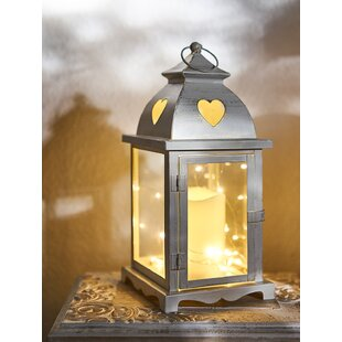Yockey White Battery Powered LED Lantern With Electric Candle By Sol 72 Outdoor