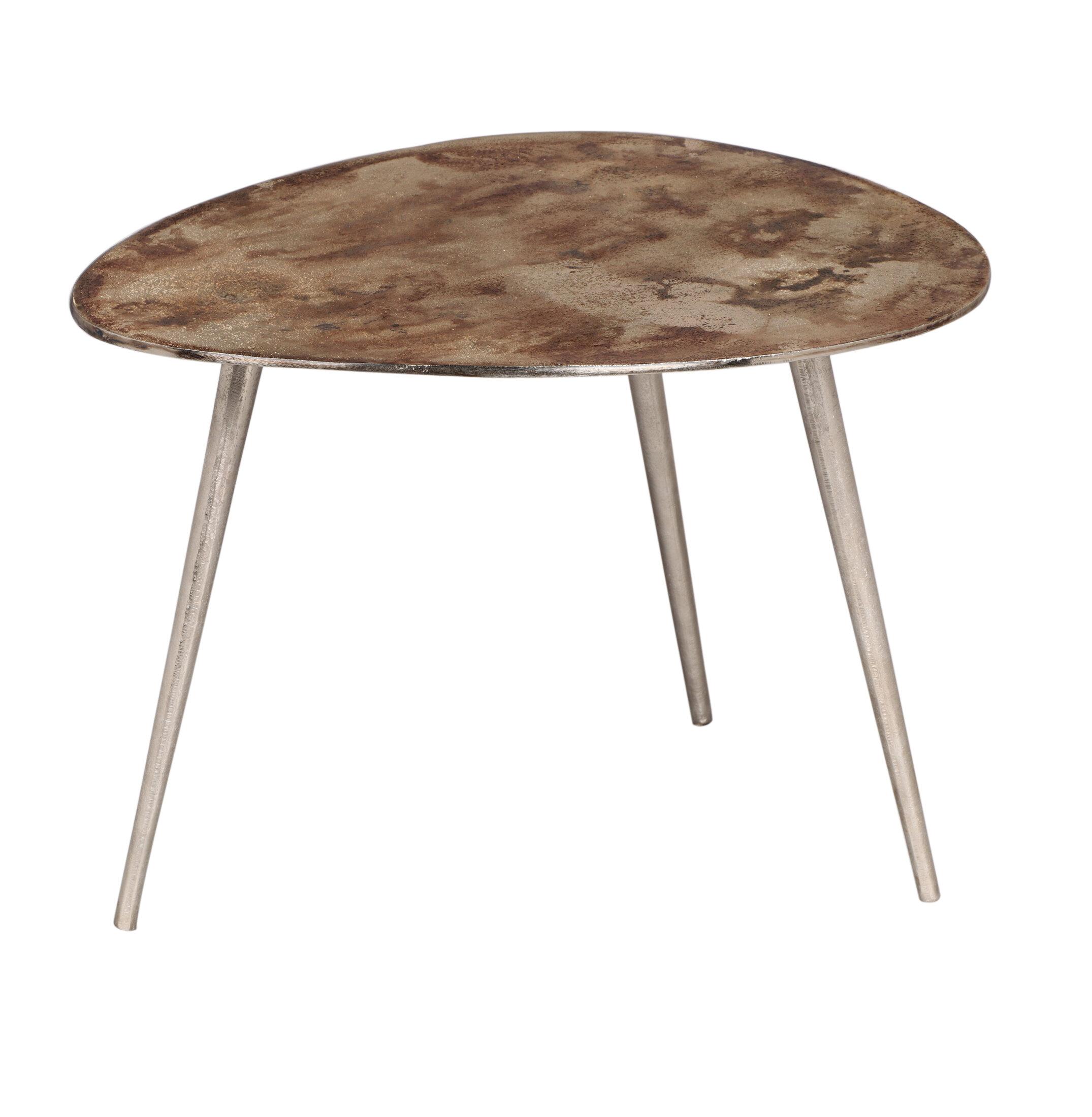Foundry Select Antonio Industrial Modern Aluminum End Table Wayfair