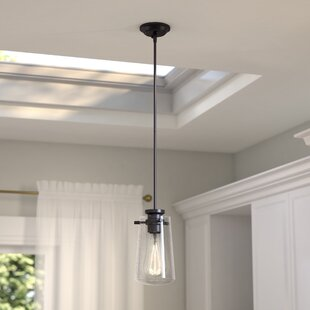 Latitude Run Hays 1-Light Cylinder Pendant