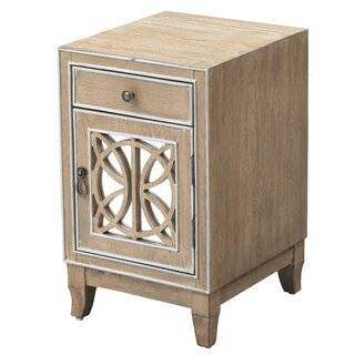 Aguero 1 Door Mirrored Apothecary Accent Cabinet by Ophelia & Co. SKU:CB615061 Order