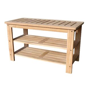 D-Art Collection Wood Storage Bench by D-Art Collection