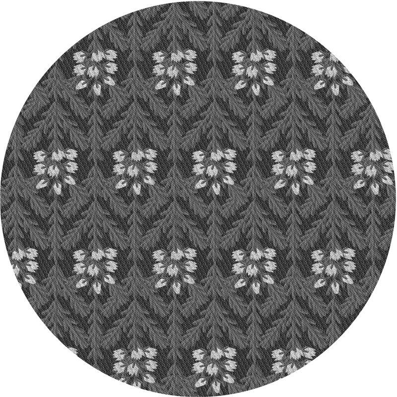 East Urban Home Kimo Floral Wool Gray Black Area Rug Wayfair