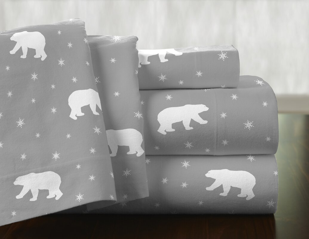 pointehaven polar bear 100 cotton flannel sheet set u0026 reviews