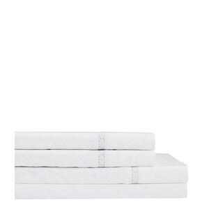 One Allium Way Quiles Crochet 300 Thread Count Percale 4 Piece Sheet Set