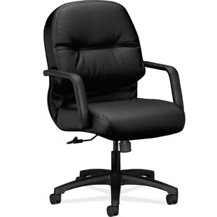 HON 2092 Series Mid-Back Genuine Leather Desk Chair