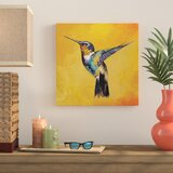 Hummingbird Painting Print on Wrapped Canvas