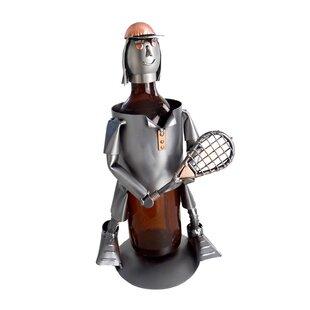 Tennis Female 1 Bottle Tabletop Wine Rack..