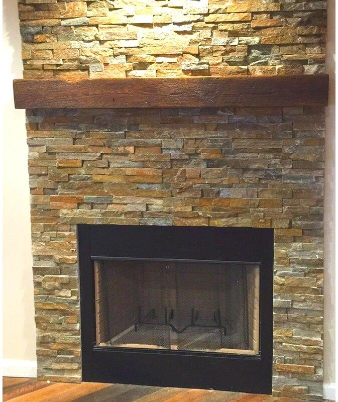 Creative Hardwoods Reclaimed Barn Beam Fireplace Mantel Shelf