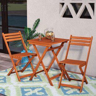Mistana Altenwald Eucalyptus 3 Piece Folding Dining Set