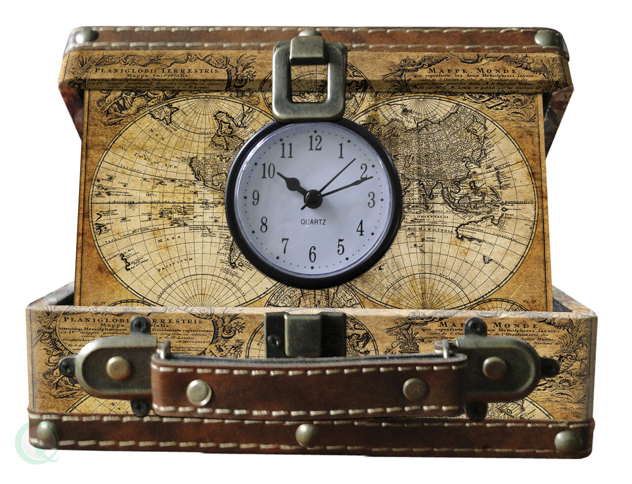 Williston forge small old world map suitcase clock reviews wayfair gumiabroncs Images