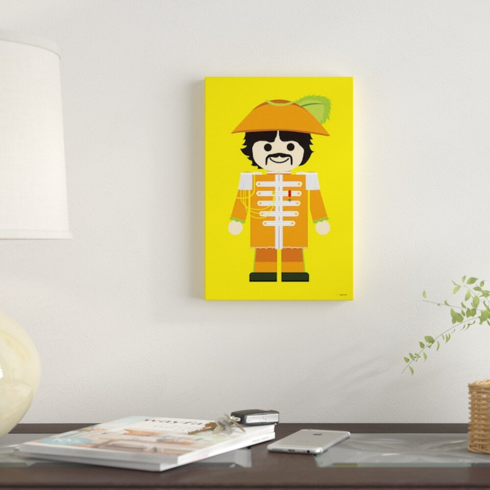 East Urban Home \'Toy George Harrison\' Graphic Art Print on Canvas ...