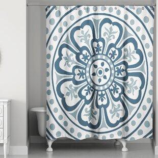 Maloy Medallion Single Shower Curtain